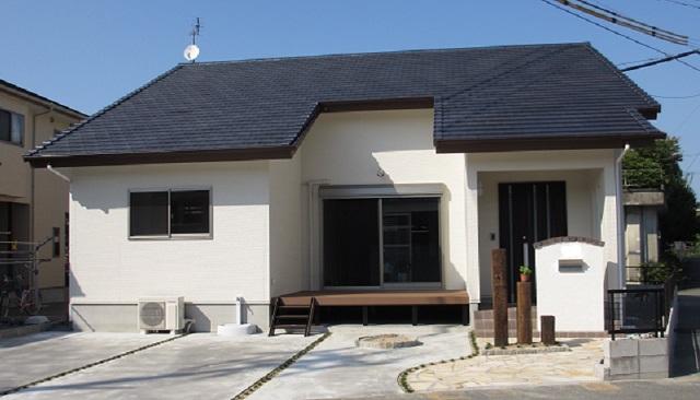 西欧風の平屋住宅